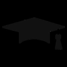 Silueta de la tapa de graduación