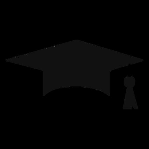 Silueta de gorro de graduación
