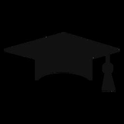 Ícone de silhueta de boné de formatura