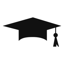 Icono de silueta de tapa de graduación