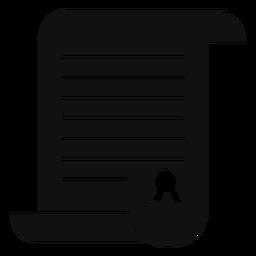 Certificado de graduação plana
