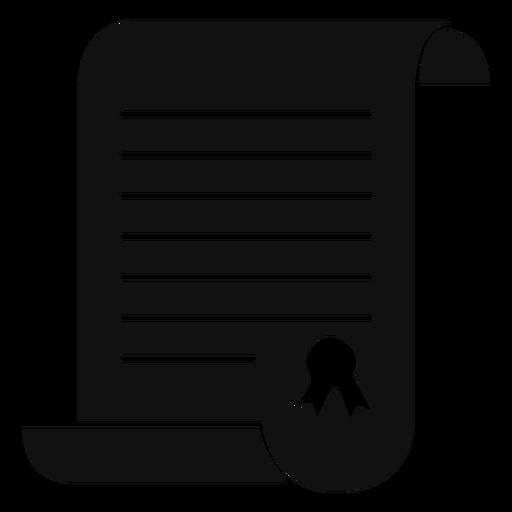 Certificado de graduación plana Transparent PNG