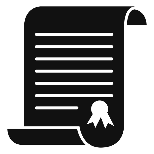 Graduation certificate flat Transparent PNG