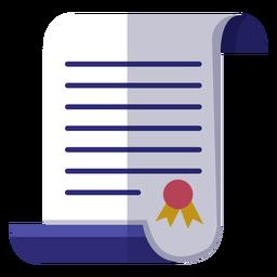 Icono de certificado de graduación