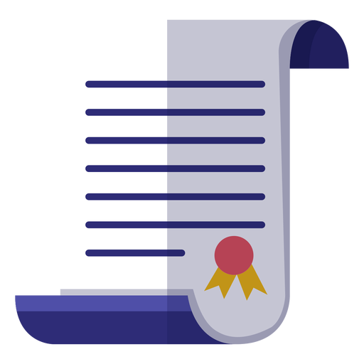 Graduation certificate icon Transparent PNG