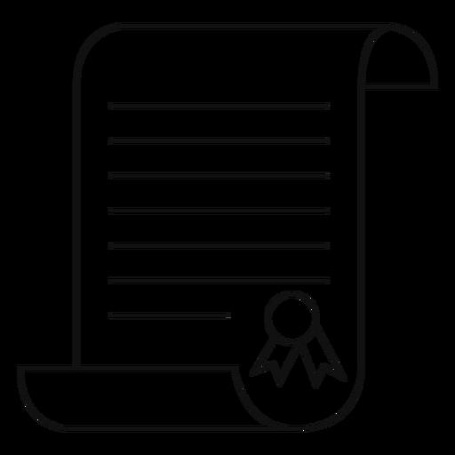 Graduation certificate line Transparent PNG