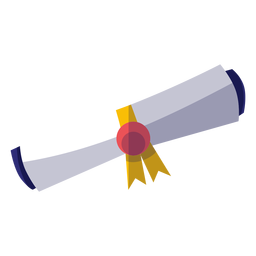 Abschluss-Diplom-Symbol