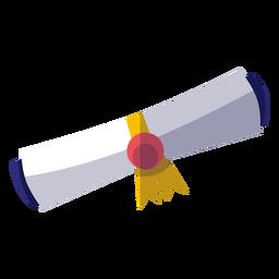 Icono de diploma de graduación
