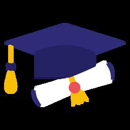 Sombrero de graduación y diploma