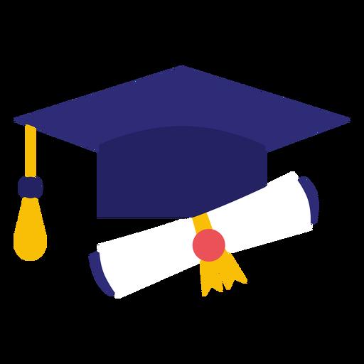 Diploma y sombrero de graduación