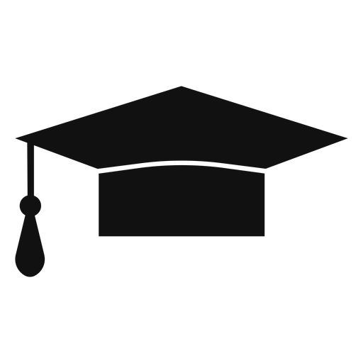Graduation hat flat - Transparent PNG & SVG vector file