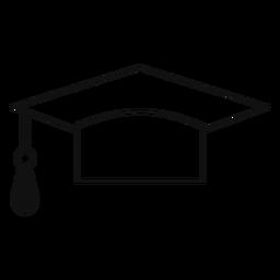 Graduation hat line