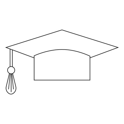 Graduation hat line Transparent PNG