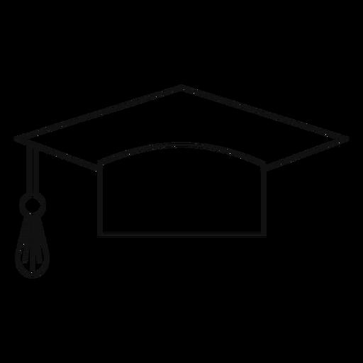 Sombrero de graduación de línea Transparent PNG
