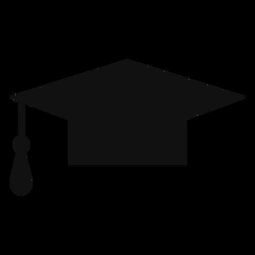 Silueta de sombrero de graduaci?n