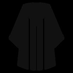 Abschluss Robe flach