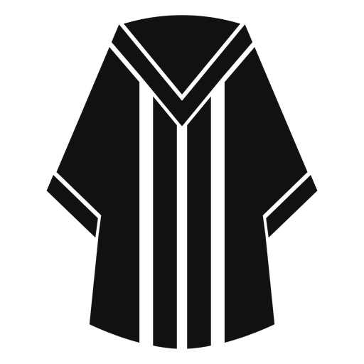 Graduation robe flat Transparent PNG