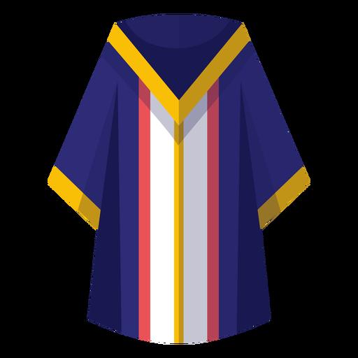 Graduation robe icon