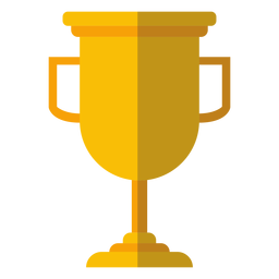 Graduation trophy cup icon