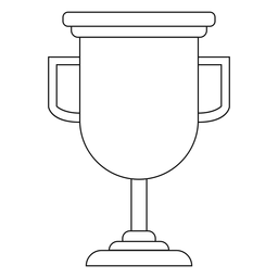 Linha de Copa do troféu de formatura