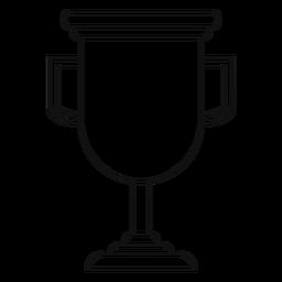 Trofeo de graduación de la línea de copa.