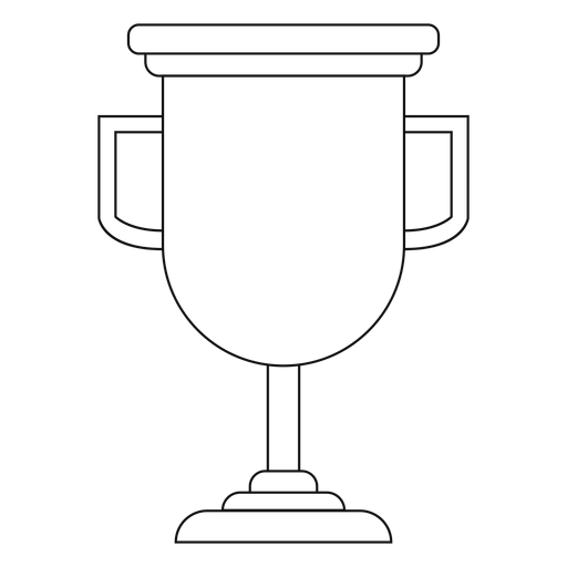 Graduation trophy cup line Transparent PNG
