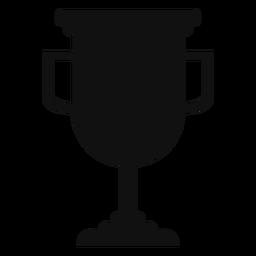 Graduation trophy cup silhouette