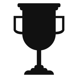 Silhueta de Copa do troféu de formatura