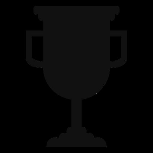 Abschluss-Trophäenschalenschattenbild Transparent PNG