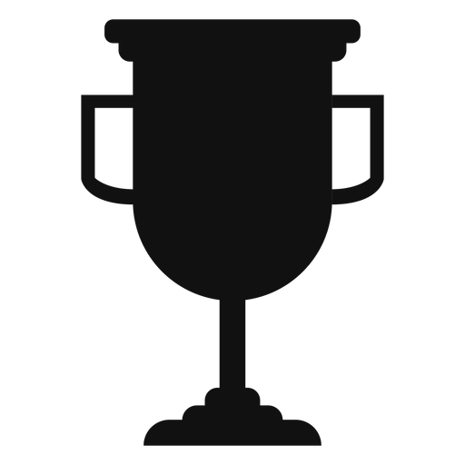 Graduation trophy cup silhouette Transparent PNG