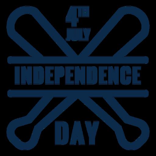 Bastões de beisebol do dia da independência planas Transparent PNG