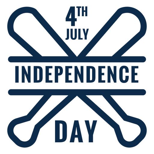 Independence day baseball bats flat Transparent PNG