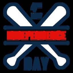 Icono de bates de béisbol día de la independencia
