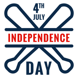 Independence day baseball bats icon