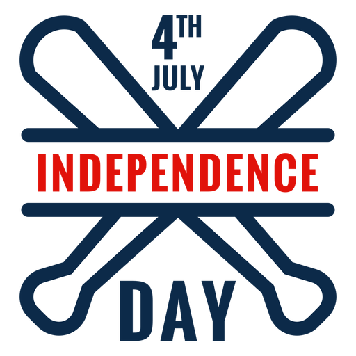 Ícone de bastões de beisebol do dia da independência Transparent PNG