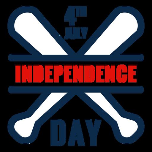 Icono de bates de béisbol día de la independencia Transparent PNG