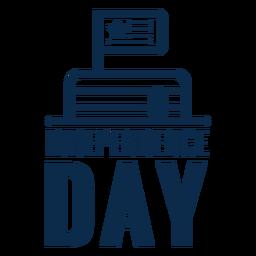 Torta de día de la independencia plana