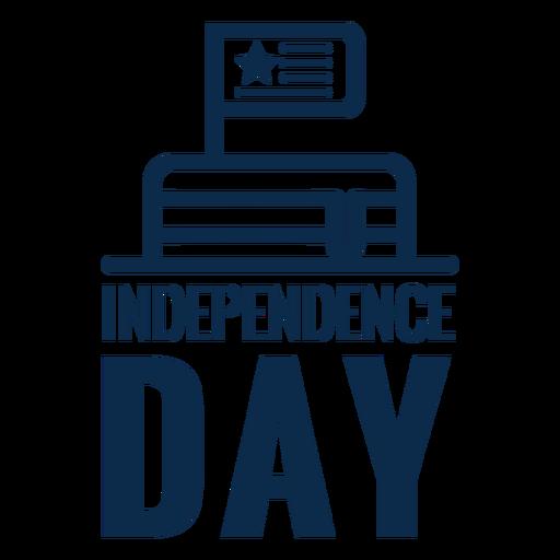 Bolo do dia da independência plana Transparent PNG