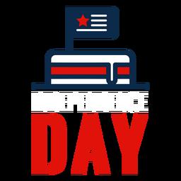 Dia da Independência bolo ícone