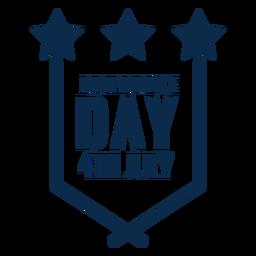 Día de la independencia emblema plano