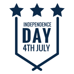 Independence day emblem flat
