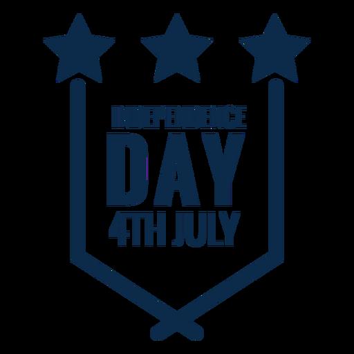 Día de la independencia emblema plano Transparent PNG