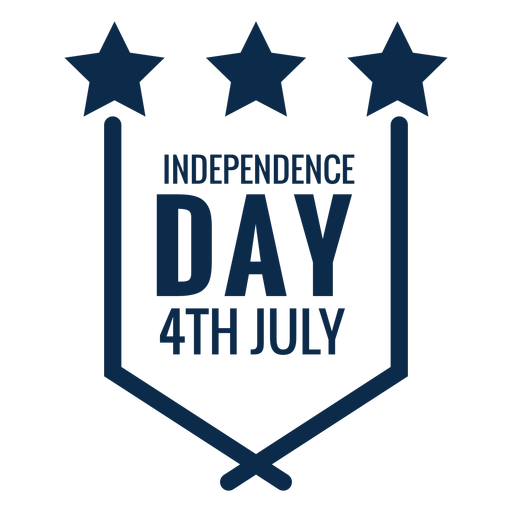Independence day emblem flat Transparent PNG