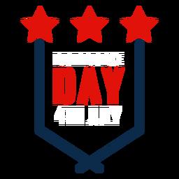 Icono de emblema del día de la independencia