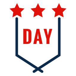 Independence day emblem icon