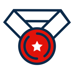 icono de medalla día de la independencia