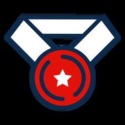 Unabhängigkeitstag Medaille Symbol