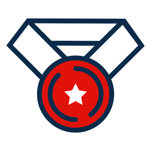 Independence day medal icon Transparent PNG