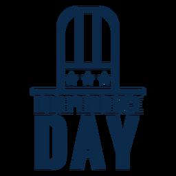 Sombrero de copa día de la independencia plana