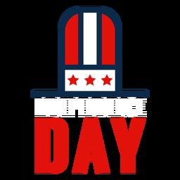 Icono del sombrero de copa del día de la independencia